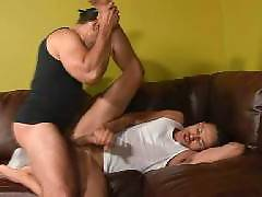 After their kinky oral sex games, horny gays Chris and Gabriel are ready to give each other a hard anal pounding. Check out these hot gays as they alternately inject each others assholes with their rock hard schlongs in this steamy interracial scene. Chri