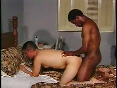 GayPornInterracial - Handsome Latino Jorge is in the mood to get some hard romping in his tight ass. Watch him hook up with a macho black stud and make him bend over to deliver the goods. Watch his cute white face turn red as he gets some hard drilling fr