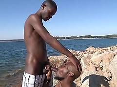 Like a scene out of From Here to Eternity - if it had black monster cock - Black Rod and Pleasure Boi take part in one of the hottest outdoor fuck videos we`ve ever filmed.